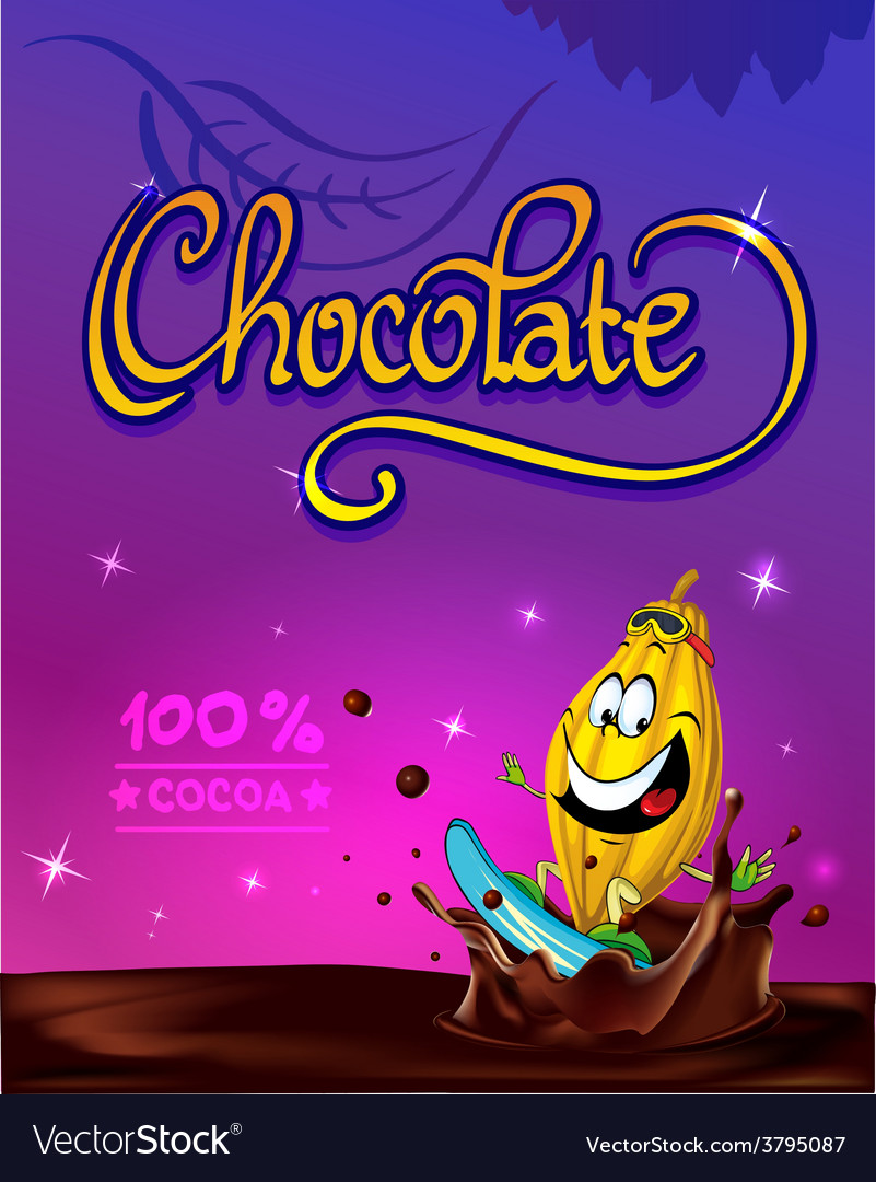 Funny chocolate design vector | Price: 1 Credit (USD $1)