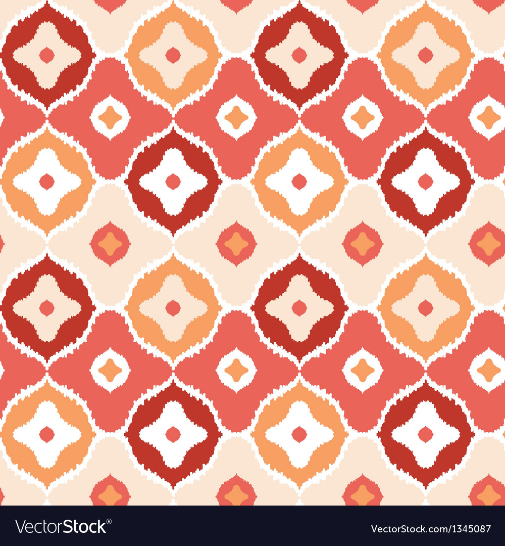 Golden ikat geometric seamless pattern background vector | Price: 1 Credit (USD $1)