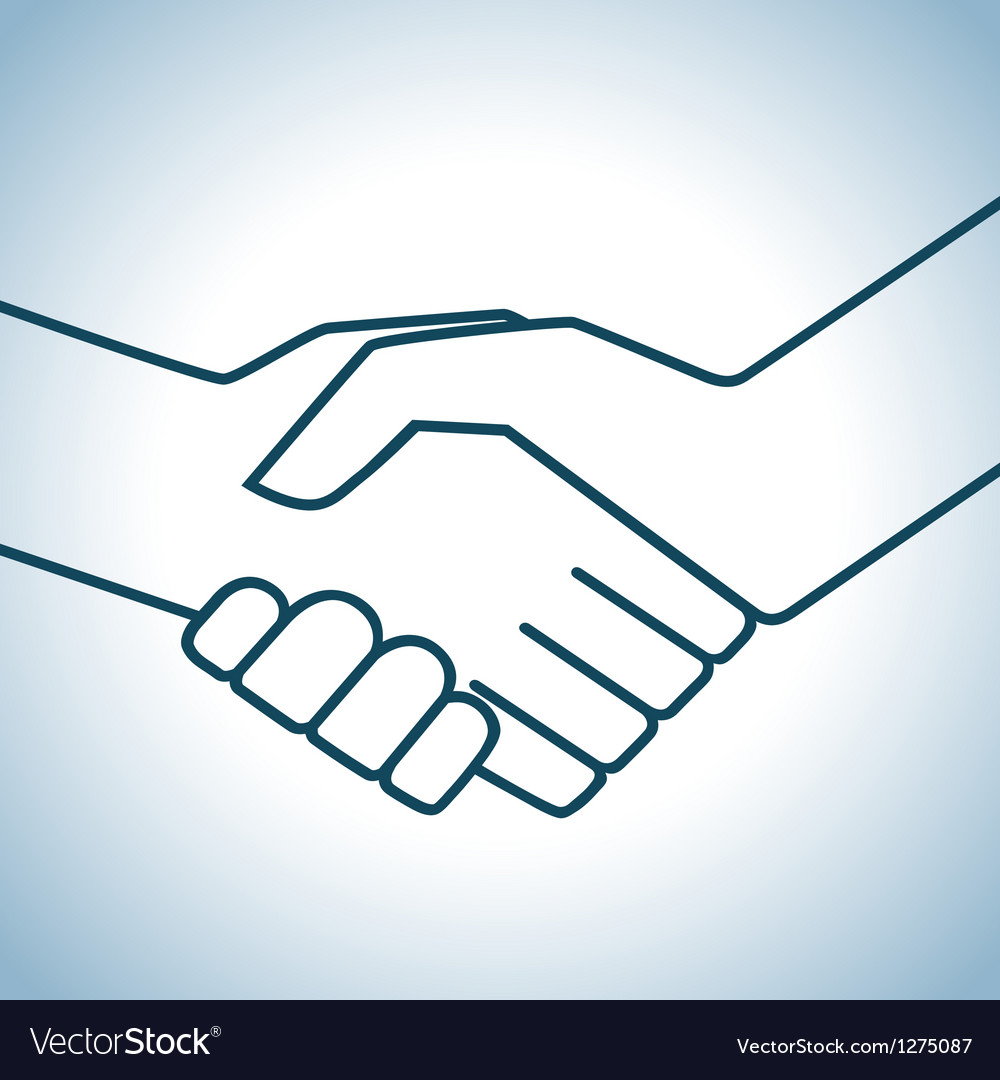 Handshake graphic vector | Price: 1 Credit (USD $1)