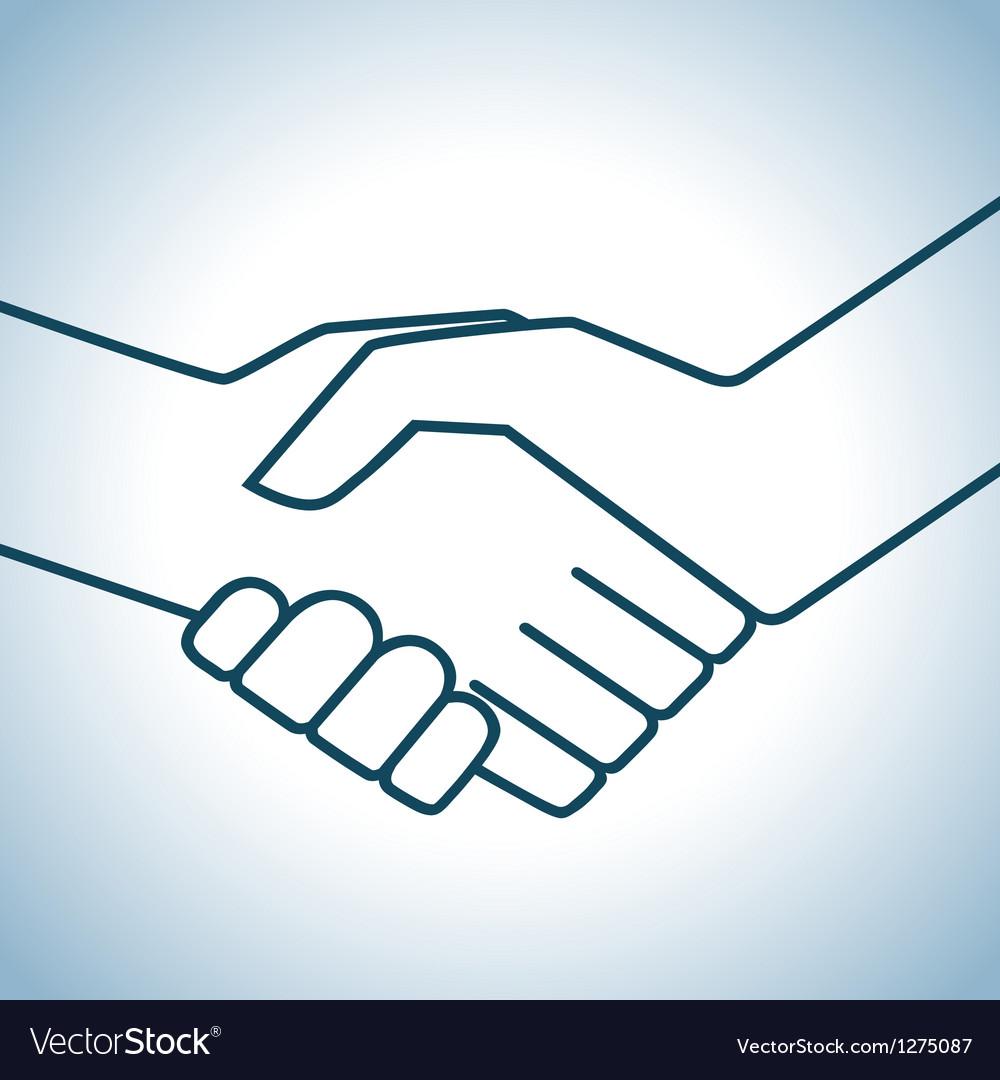 Handshake graphic vector | Price: 1 Credit (USD $1)