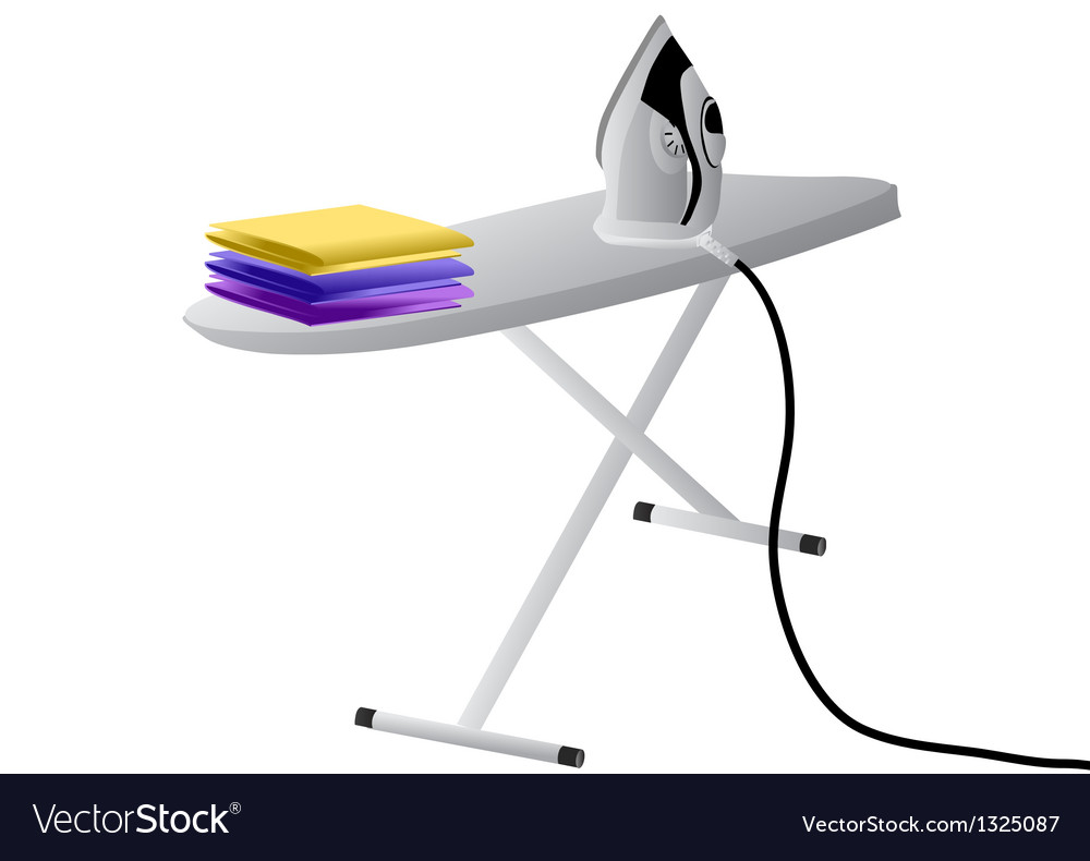 Iron and ironing board vector | Price: 1 Credit (USD $1)