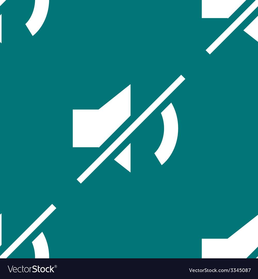 Mute sound web icon flat design seamless pattern vector   Price: 1 Credit (USD $1)