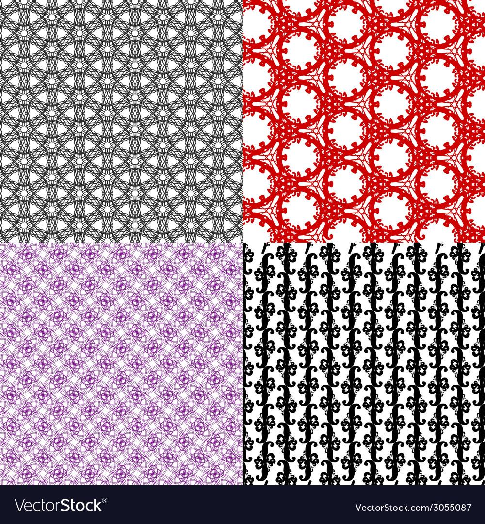Set of geometric pattern in op art design art vector | Price: 1 Credit (USD $1)