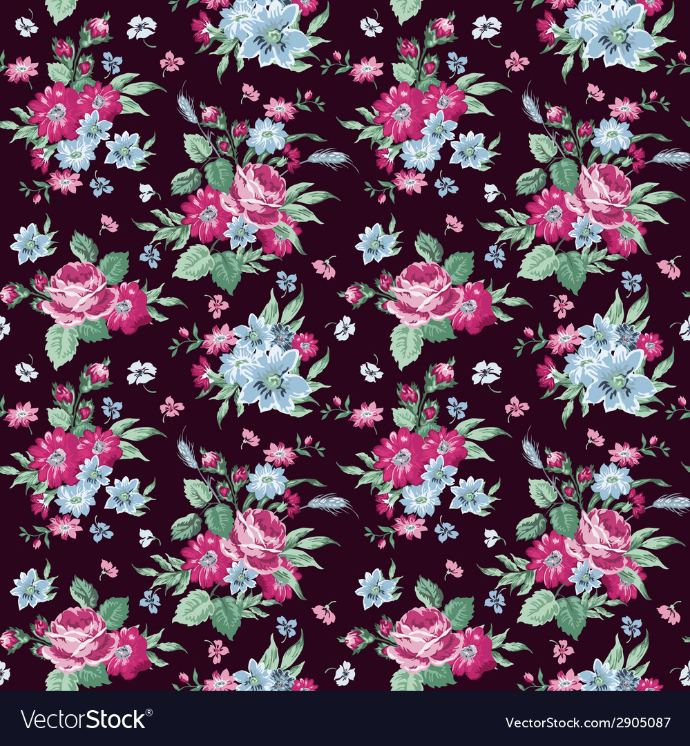 Vintage floral background vector   Price: 1 Credit (USD $1)