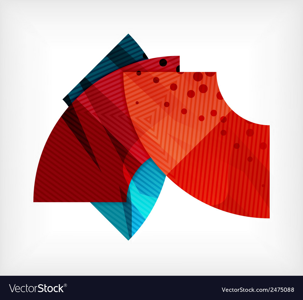Abstract blank banner made of pieces vector | Price: 1 Credit (USD $1)
