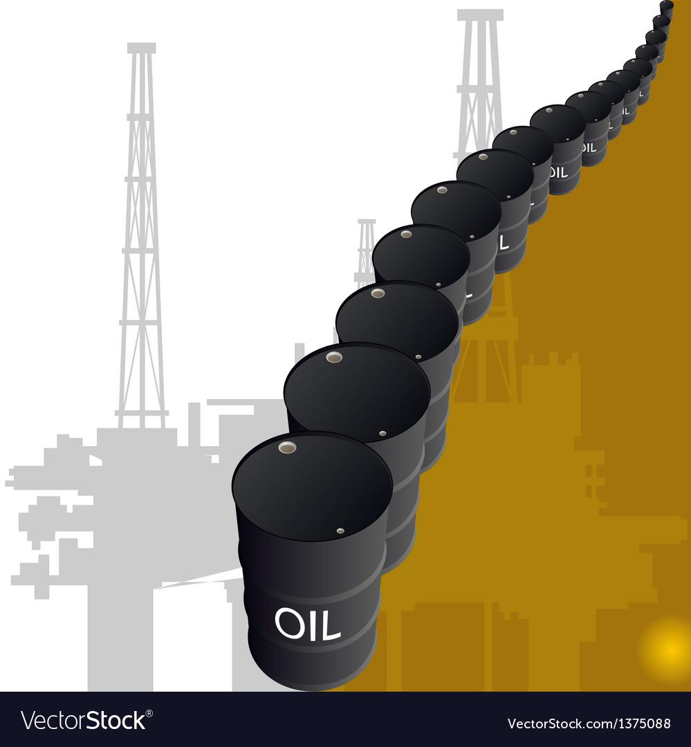 Barrels of oil vector   Price: 1 Credit (USD $1)
