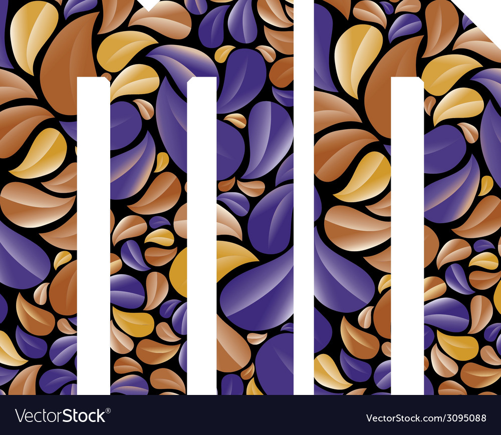 Beautiful floral alphabet letters m and n vector   Price: 1 Credit (USD $1)