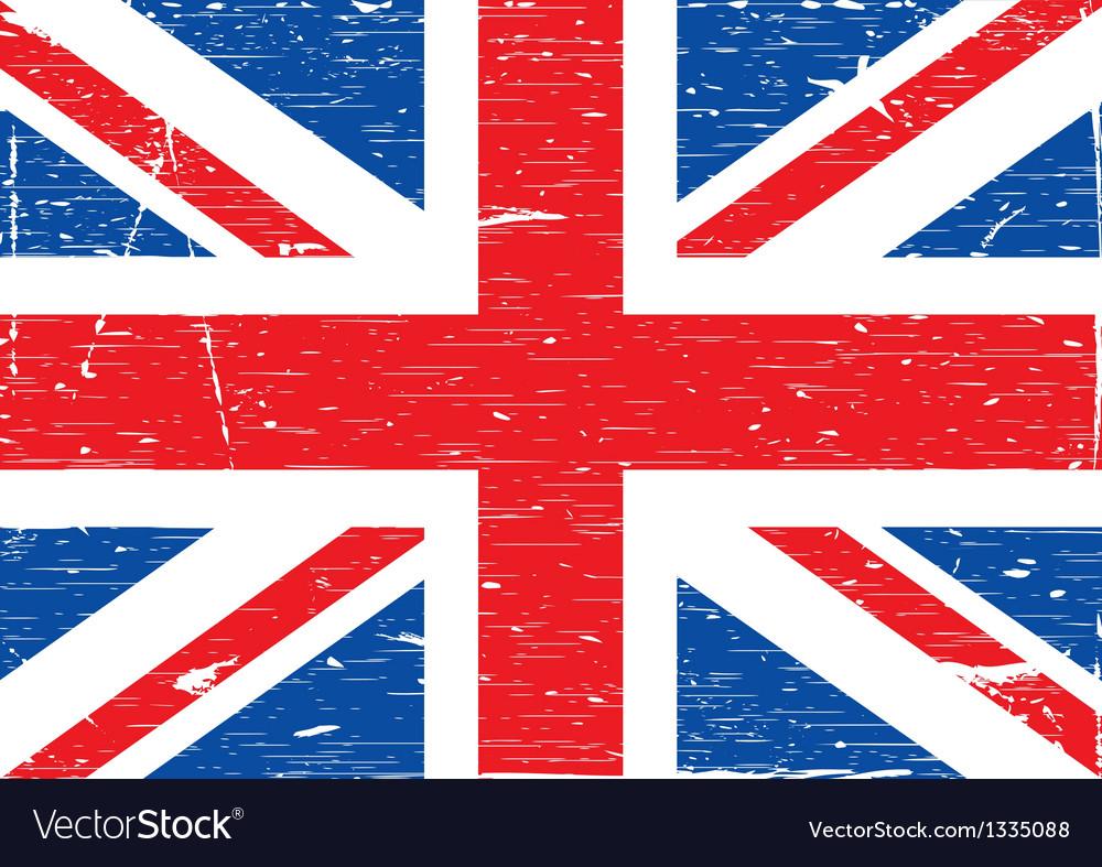 British flag grunge vector | Price: 1 Credit (USD $1)