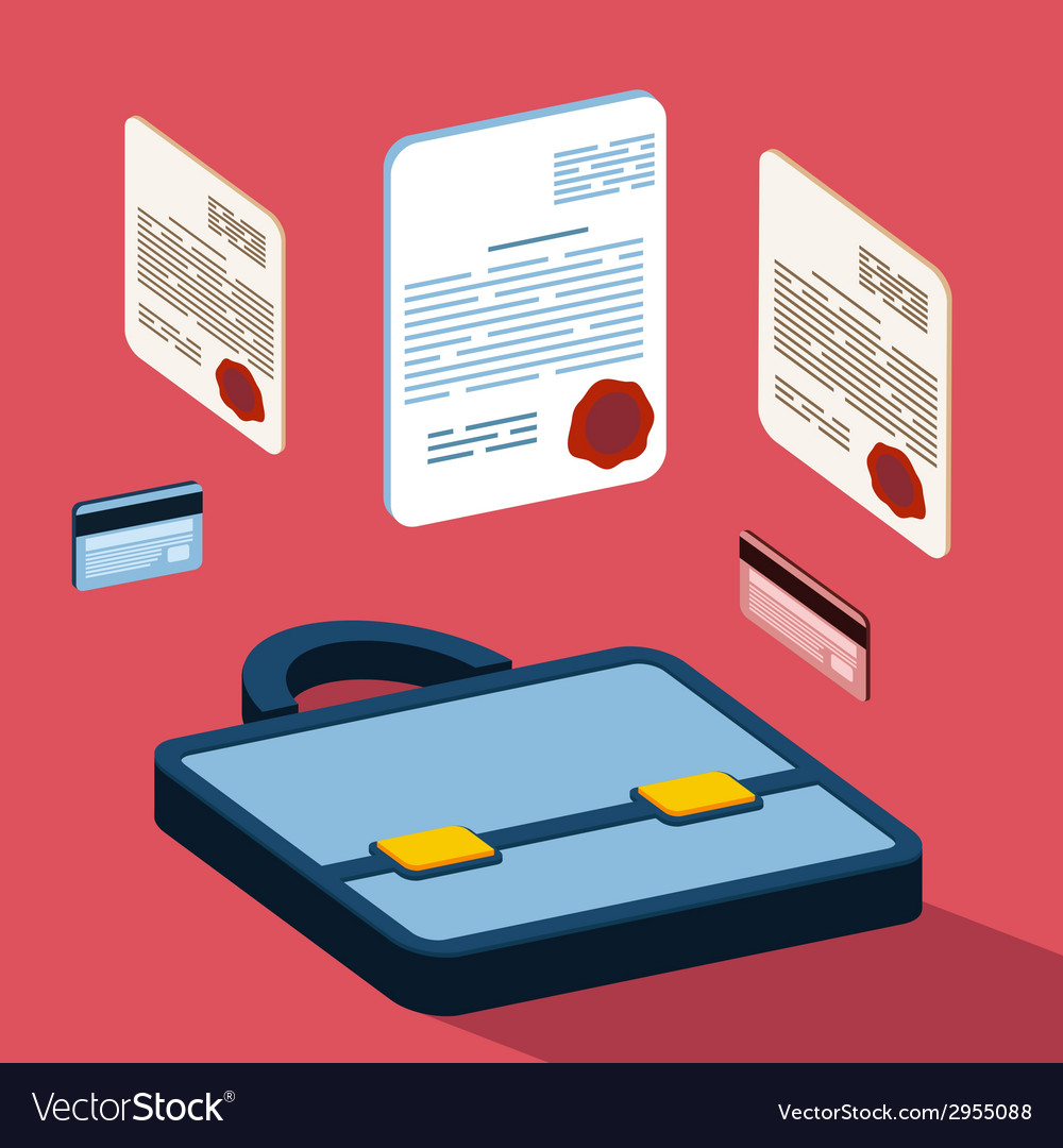 Business 3d documents concept vector | Price: 1 Credit (USD $1)