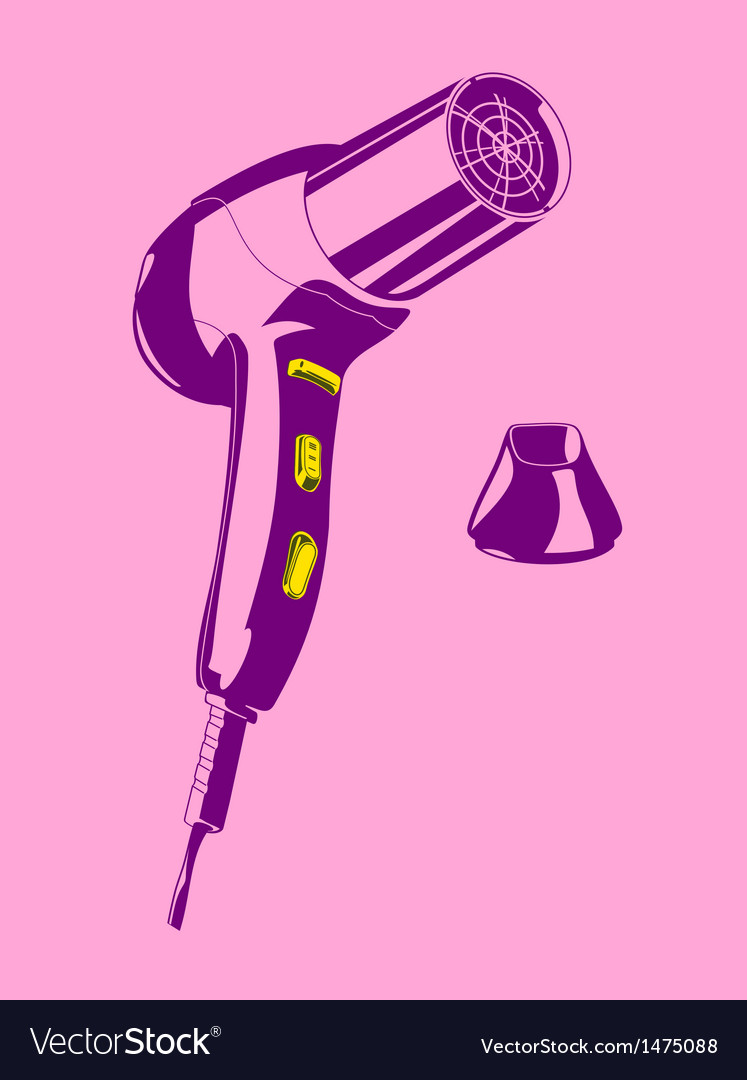 Hair drier vector | Price: 1 Credit (USD $1)