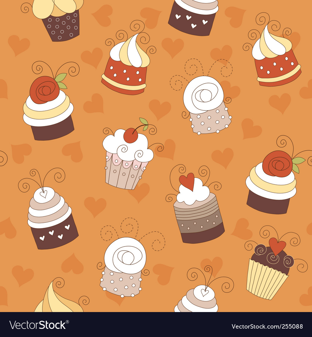 Seamless pattern with cute cup vector | Price: 1 Credit (USD $1)