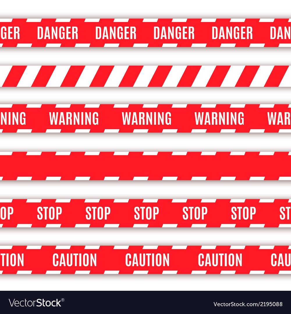 Set of warning tapes vector | Price: 1 Credit (USD $1)