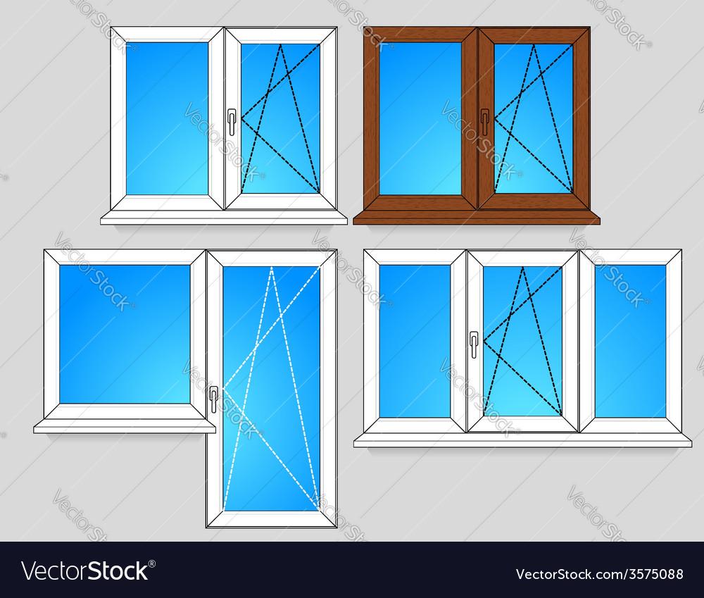 Set of window templates vector | Price: 1 Credit (USD $1)
