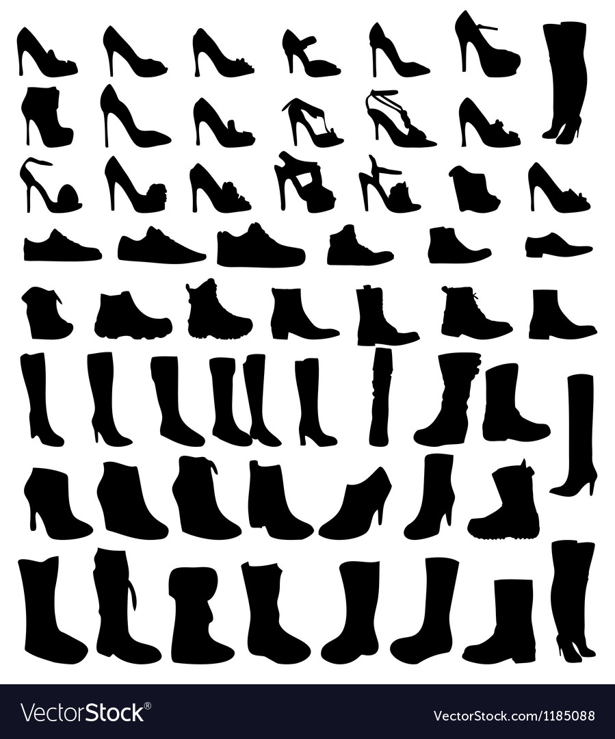 Shoes silhouette eps10 vector | Price: 1 Credit (USD $1)