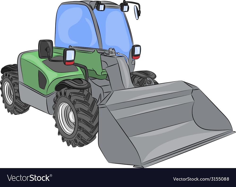 Wheel mini bulldozer vector | Price: 1 Credit (USD $1)