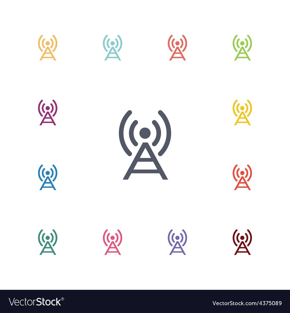 Antenna flat icons set vector | Price: 1 Credit (USD $1)
