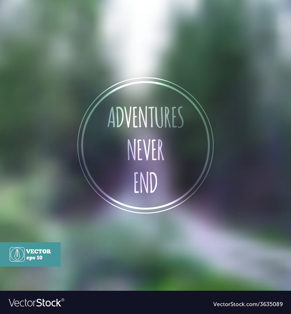 Corporate website design adventures never end vector | Price: 1 Credit (USD $1)