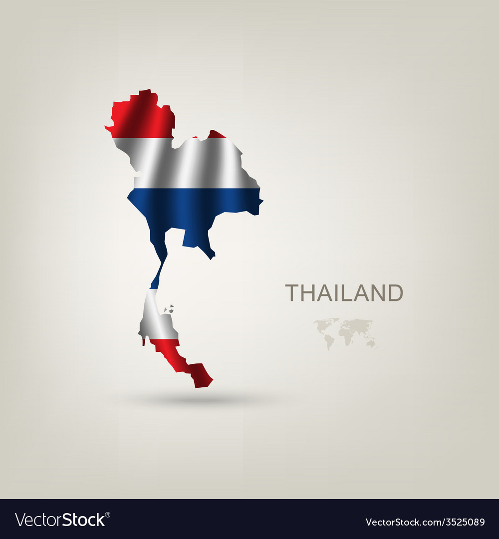 Flag of thailand as a country vector | Price: 1 Credit (USD $1)