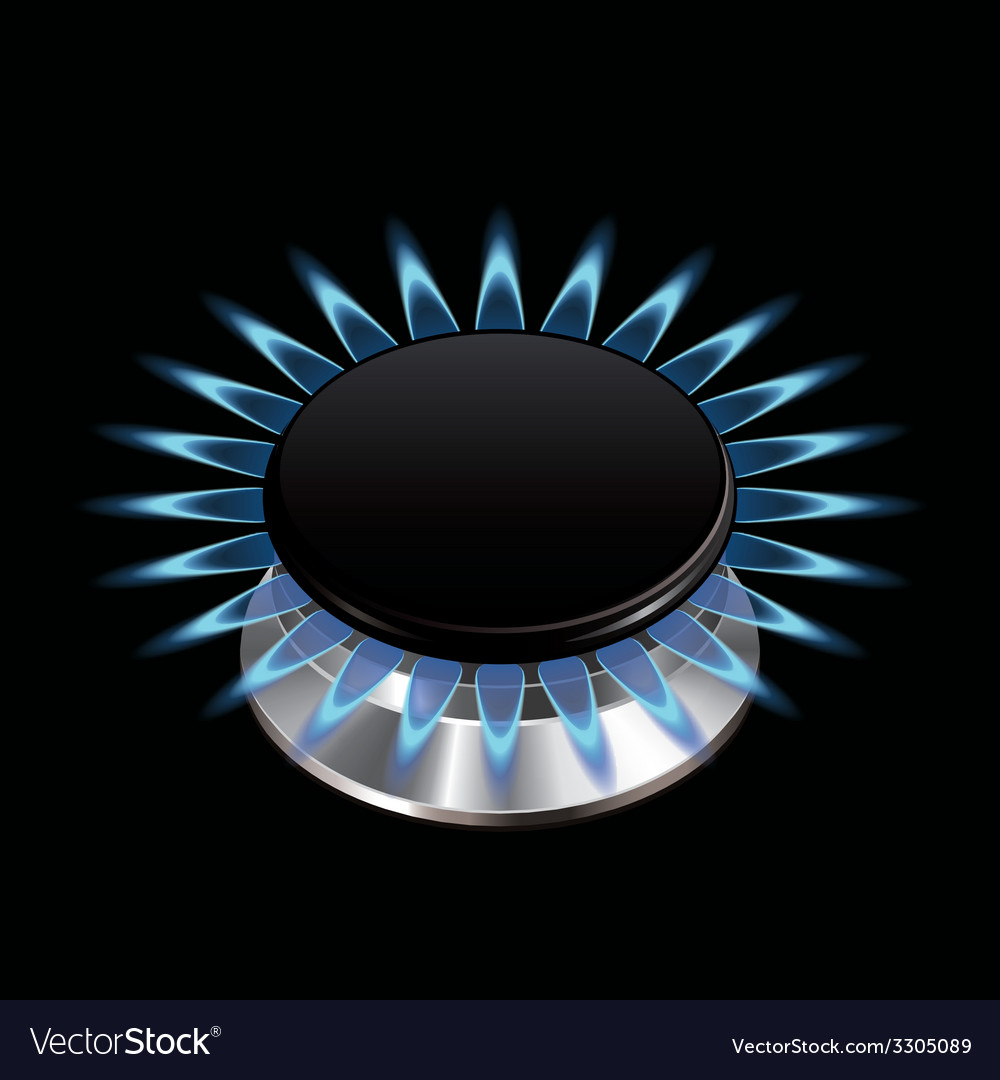 Gas flame stove isolated vector | Price: 1 Credit (USD $1)