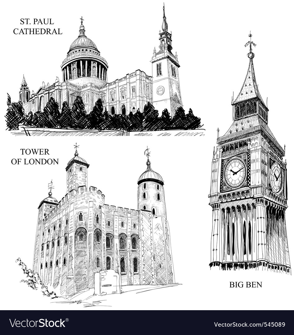 London architectural symbols vector | Price: 1 Credit (USD $1)