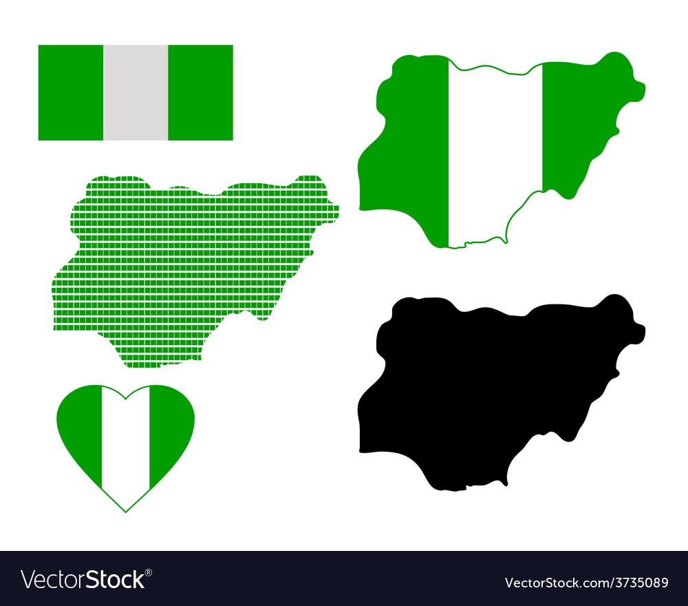 Map of nigeria vector | Price: 1 Credit (USD $1)