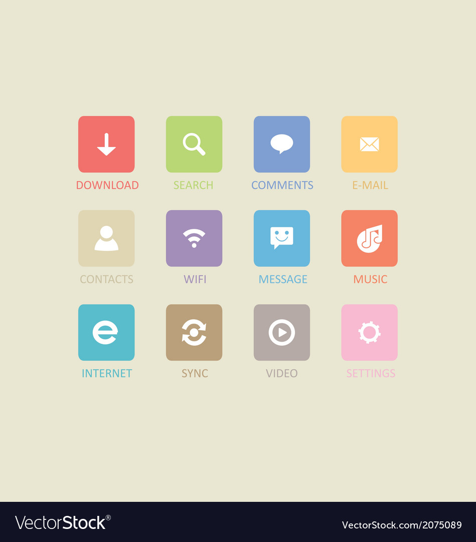 Mobile and tablet app icons 4 vector | Price: 1 Credit (USD $1)