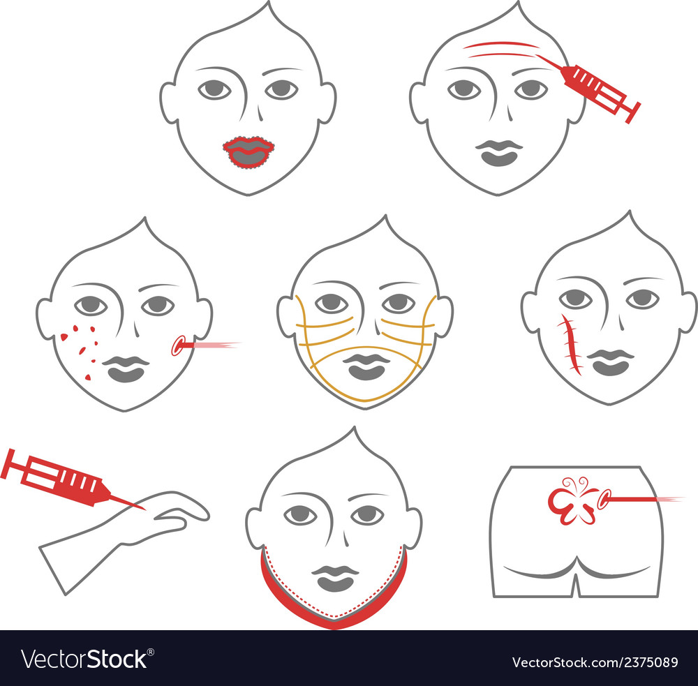 Plastic surgery of the skin vector | Price: 1 Credit (USD $1)