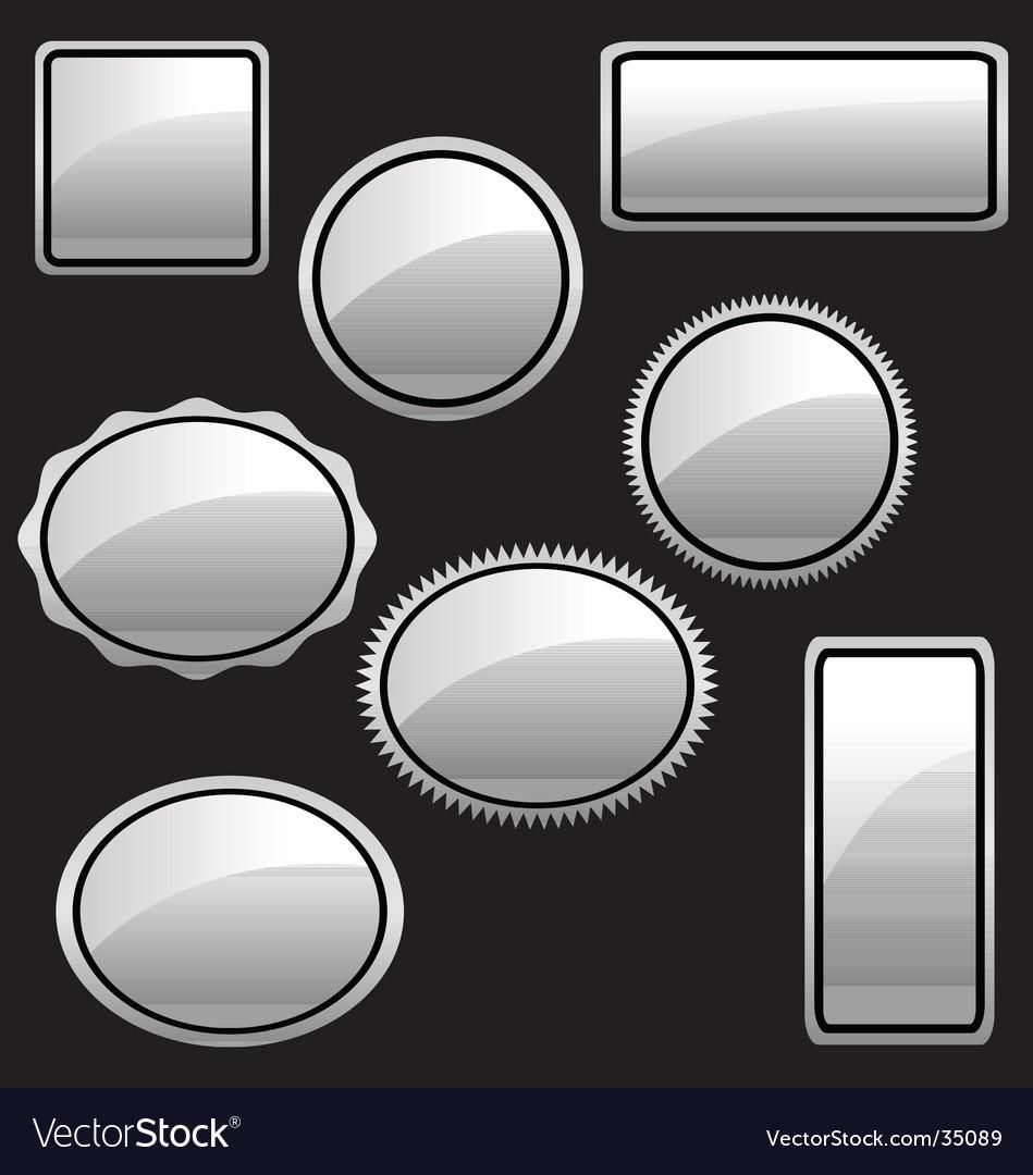 White-silver-stickers vector | Price: 1 Credit (USD $1)