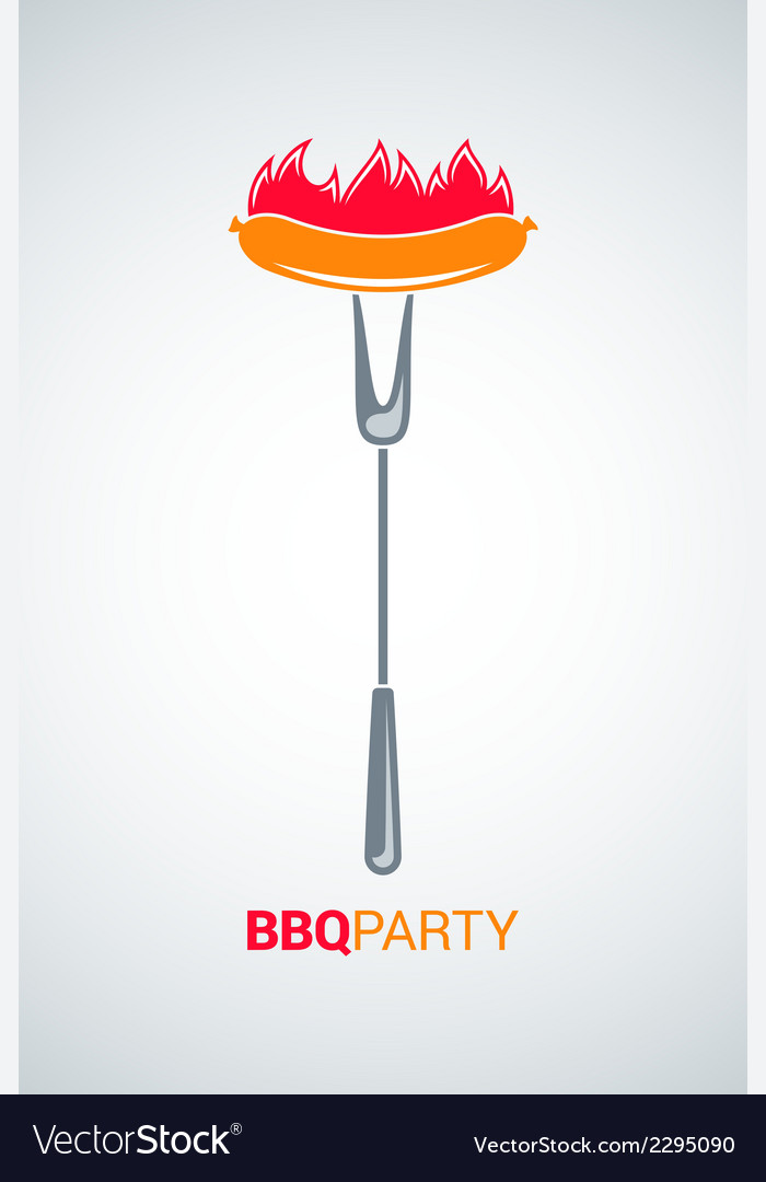 Barbecue grill party menu background vector | Price: 1 Credit (USD $1)