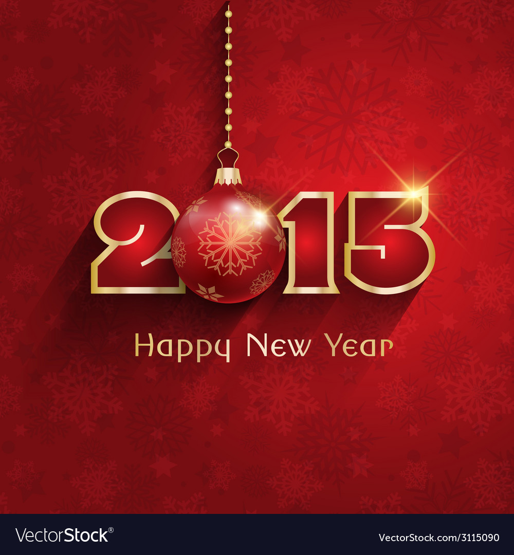 Happy new year background vector | Price: 1 Credit (USD $1)