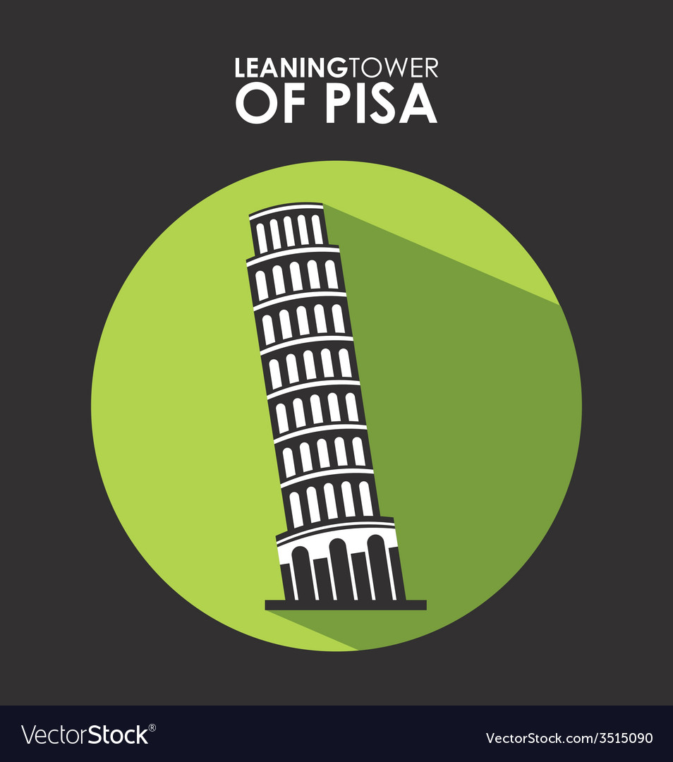 Ltower of pisa vector | Price: 1 Credit (USD $1)