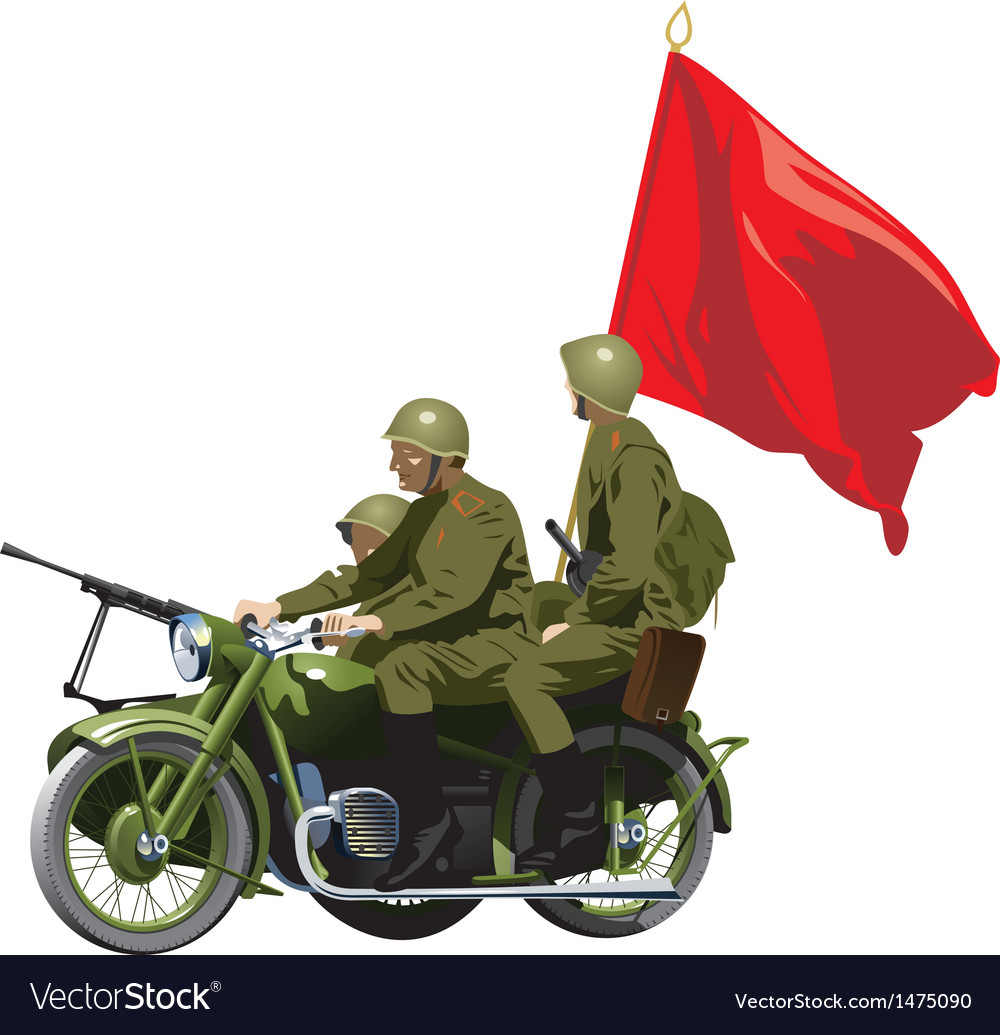 Military motorcycles vector | Price: 3 Credit (USD $3)