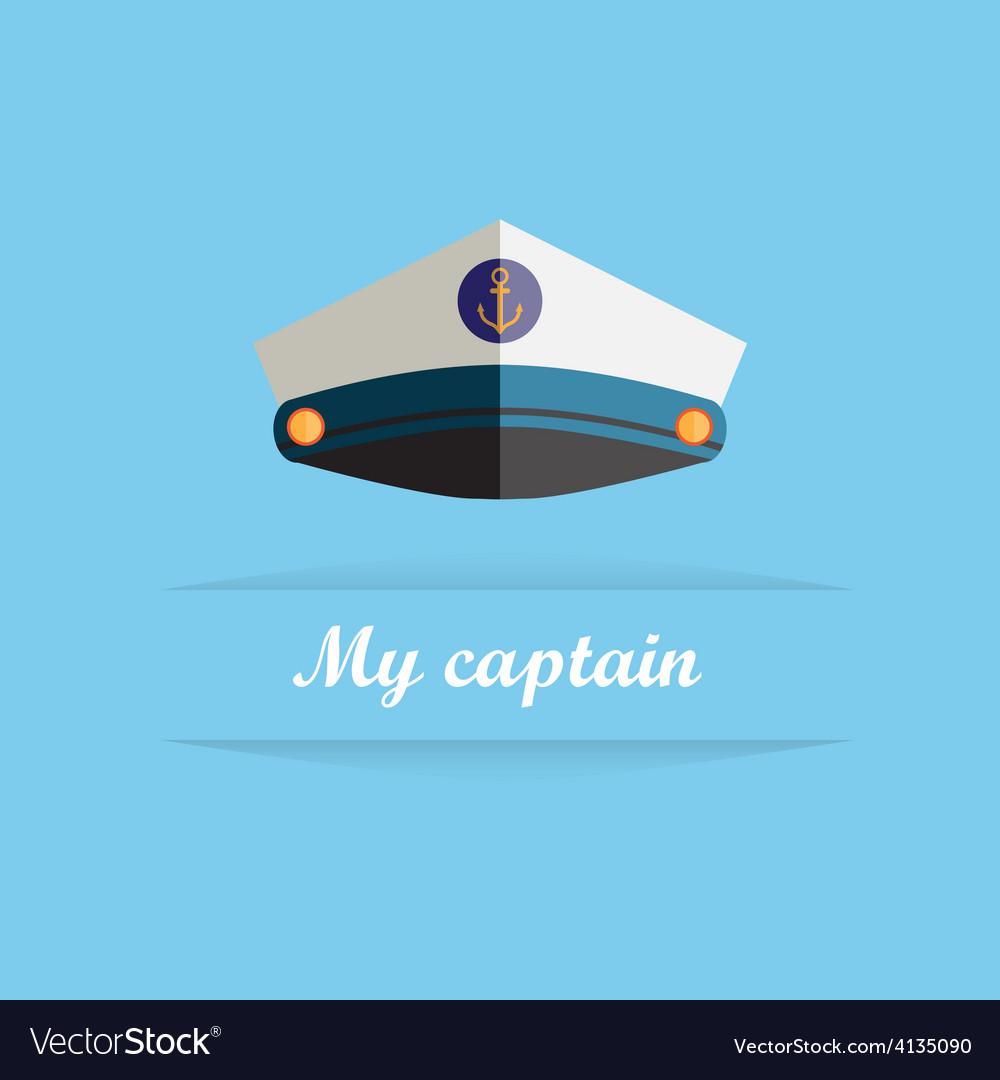 Sailor cap vector