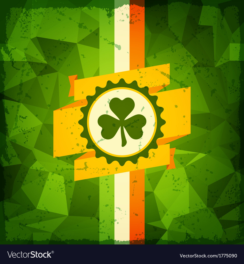 Saint patricks day abstract grunge background vector | Price: 1 Credit (USD $1)