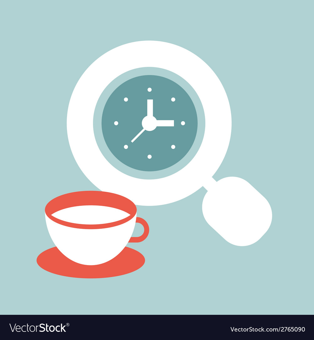 Time for coffee vector | Price: 1 Credit (USD $1)