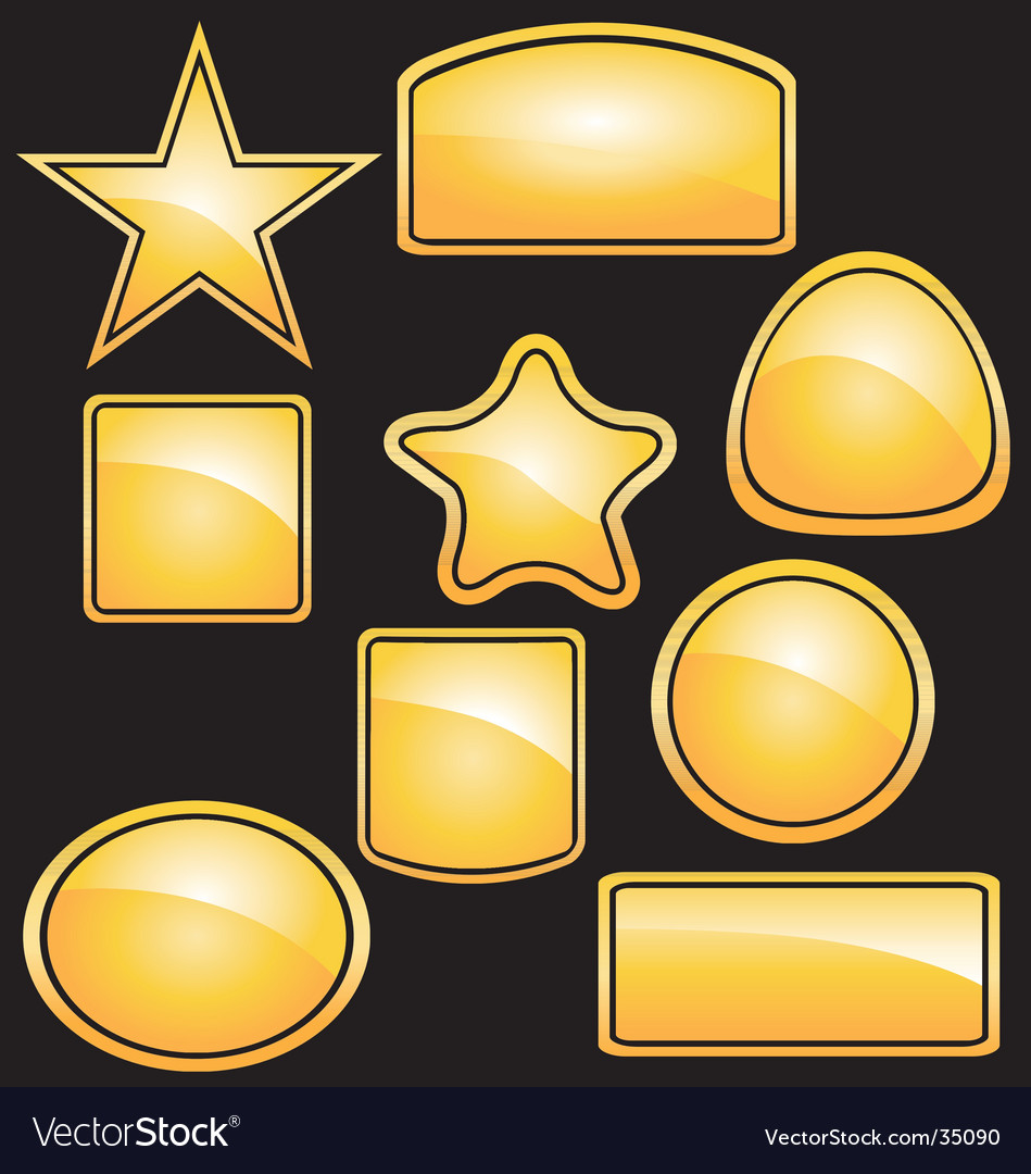 Yellow-stickers vector | Price: 1 Credit (USD $1)