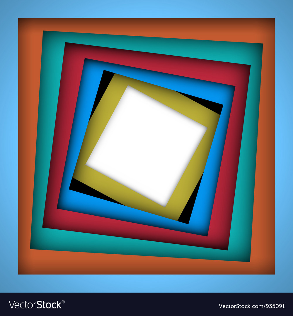 Colorful paper square and frame background vector | Price: 1 Credit (USD $1)