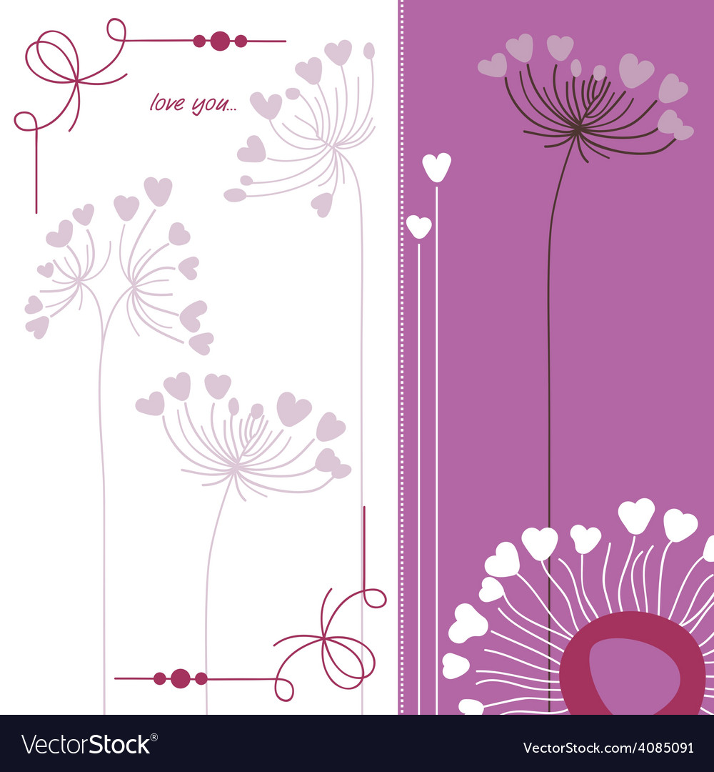 Floral background in purple and white vector | Price: 1 Credit (USD $1)