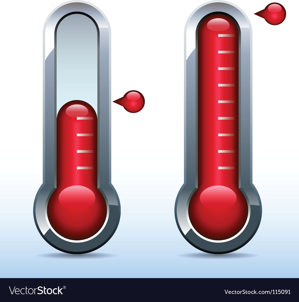 Fundraiser goal thermometer vector | Price: 1 Credit (USD $1)