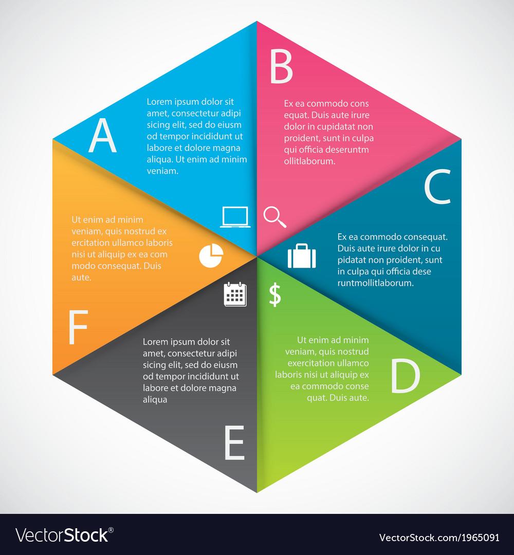 Infographics hexagon paper vector | Price: 1 Credit (USD $1)