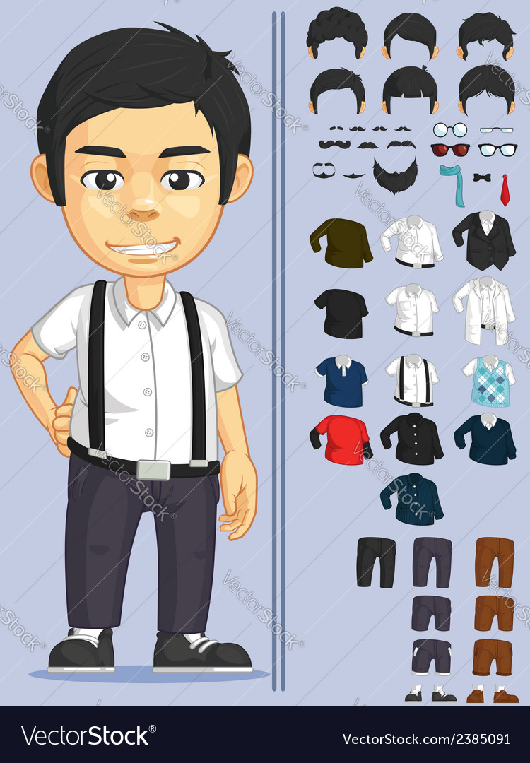 Man customizable character vector | Price: 1 Credit (USD $1)