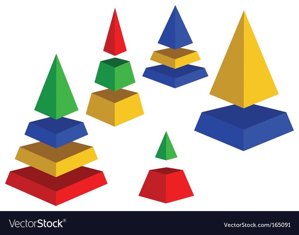 Pyramids vector | Price: 1 Credit (USD $1)