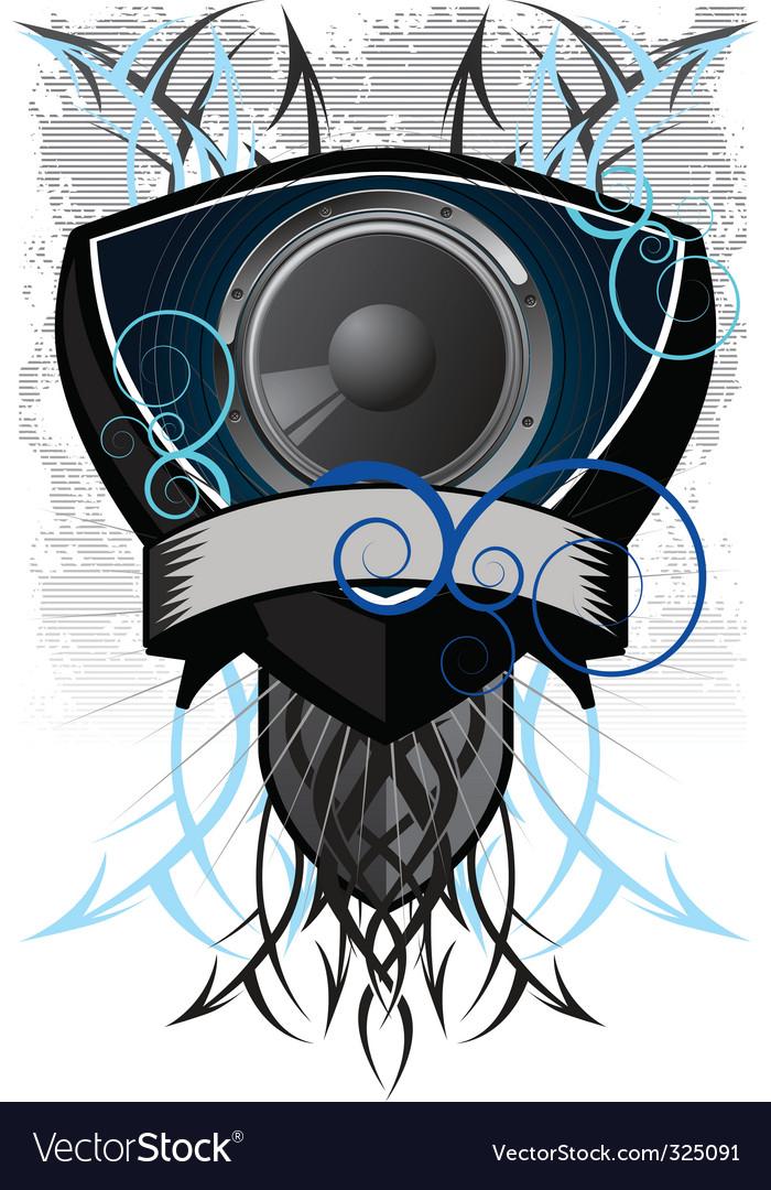 Speaker grunge vector | Price: 1 Credit (USD $1)