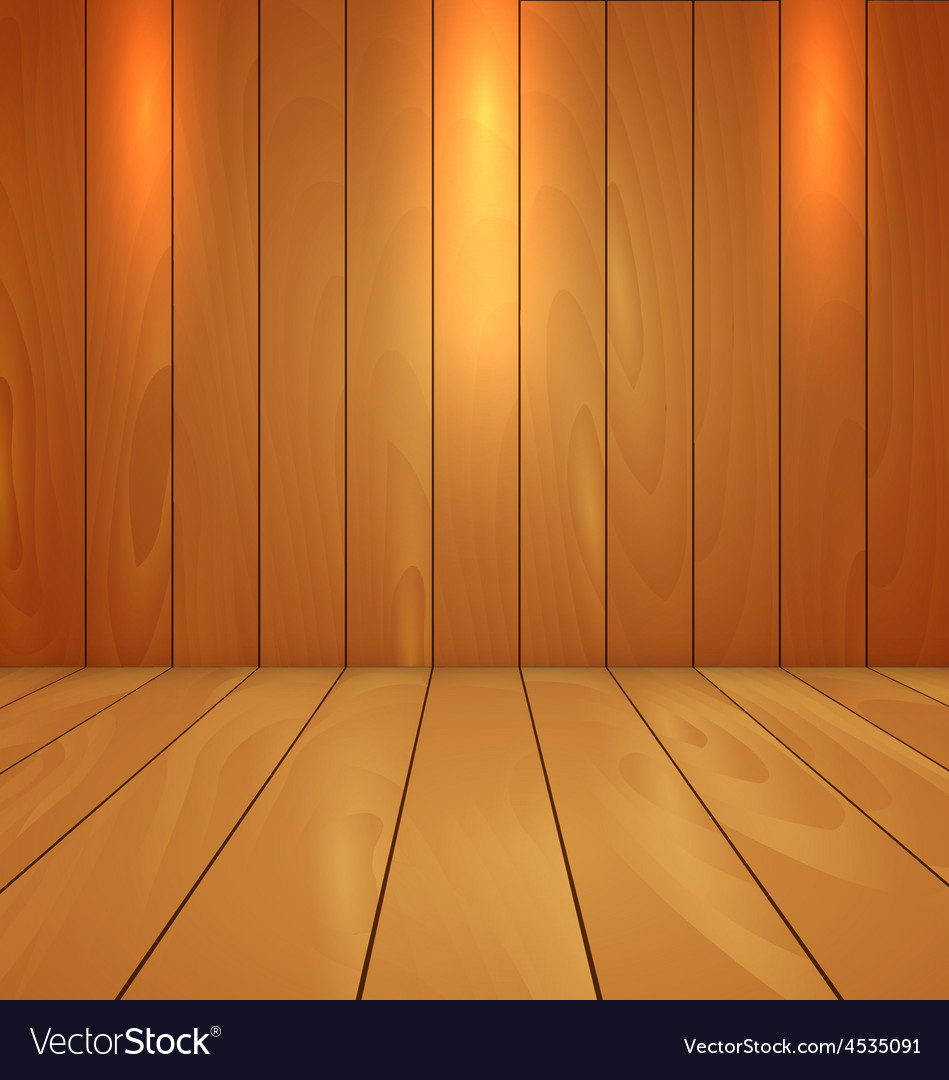 Wood floor and wall background with spot light vector | Price: 1 Credit (USD $1)