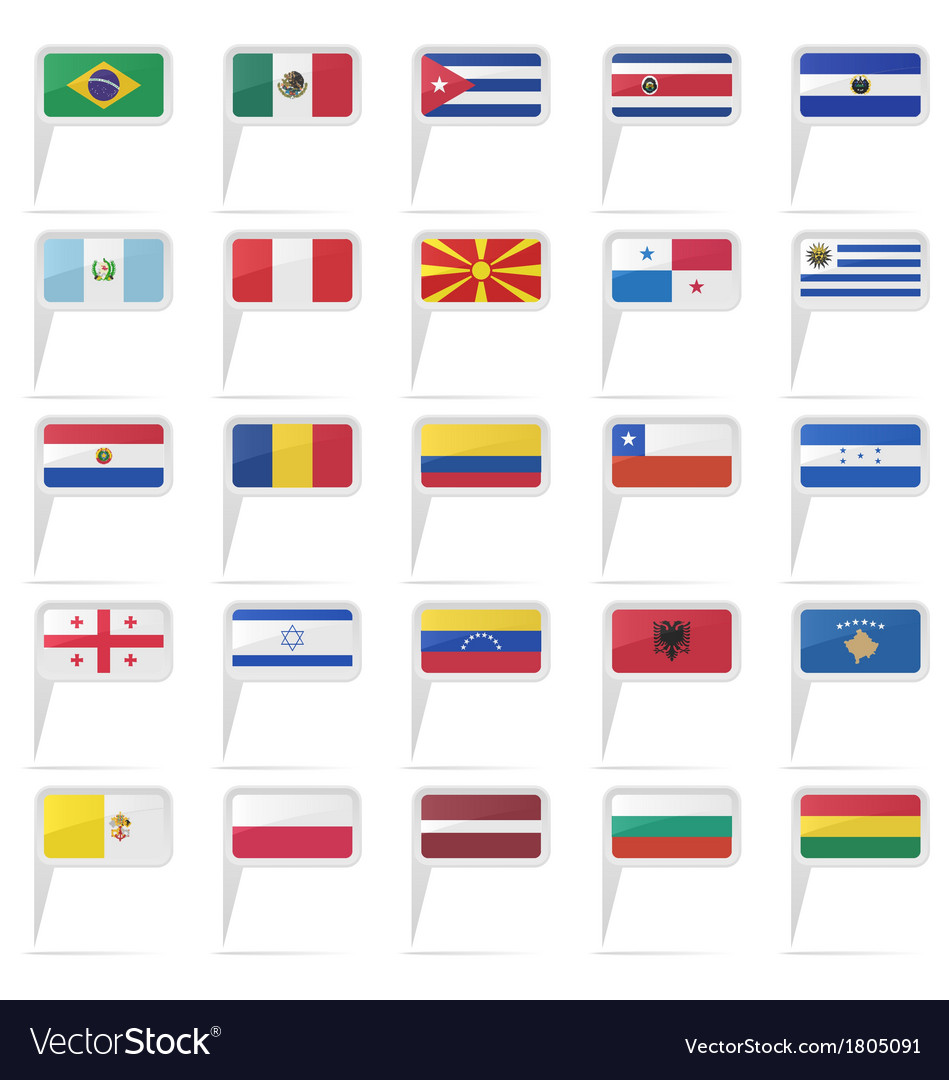 World country flag icons vector | Price: 1 Credit (USD $1)