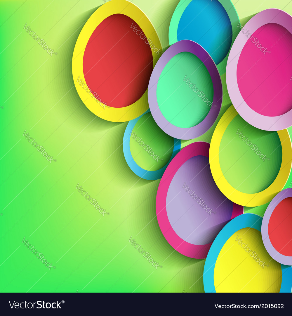 Abstract background with colorful easter egg vector | Price: 1 Credit (USD $1)