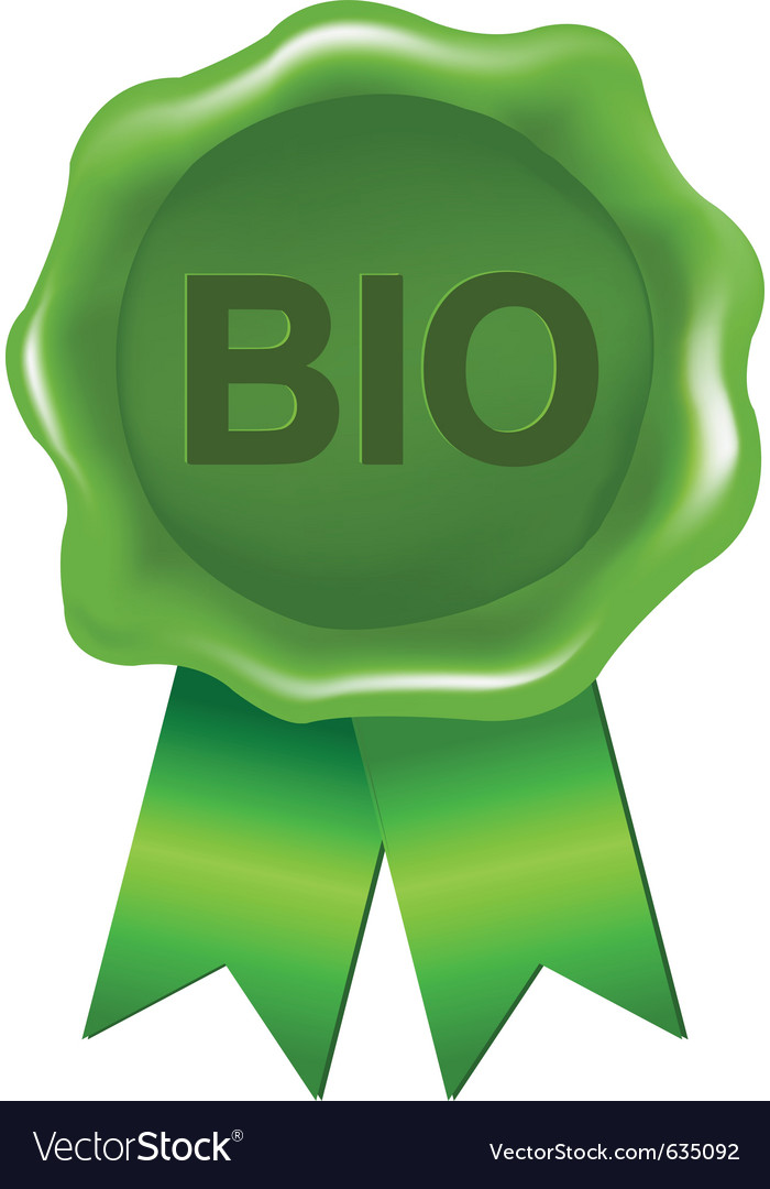 Bio wax seal vector | Price: 1 Credit (USD $1)