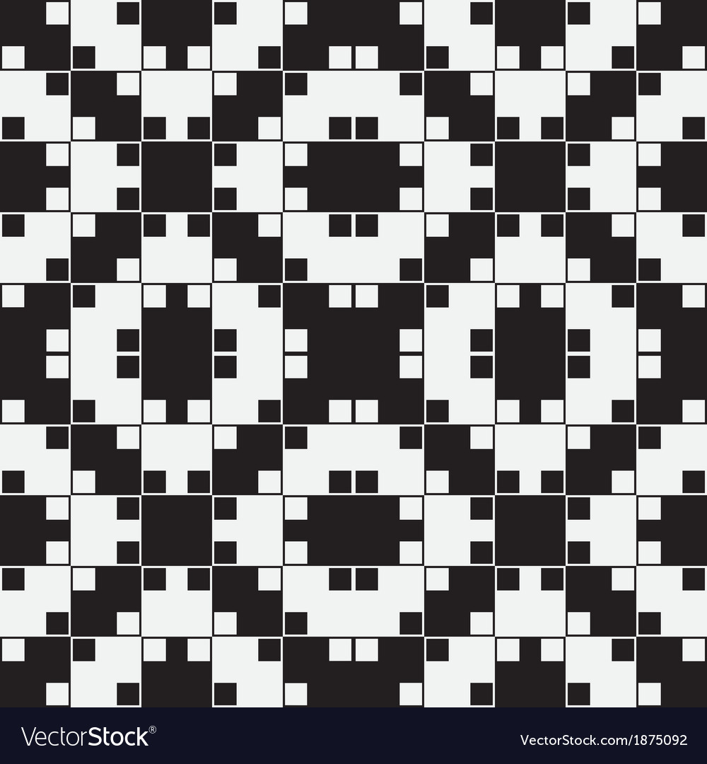 Black and white optical seamless pattern vector | Price: 1 Credit (USD $1)