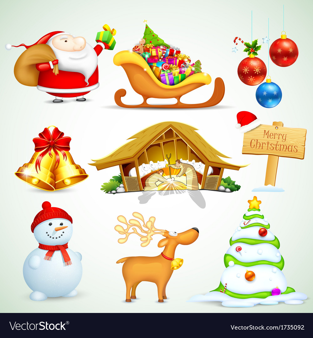 Christmas object vector | Price: 1 Credit (USD $1)