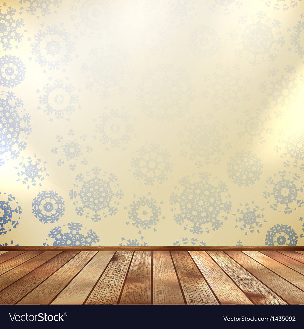 Christmas room and blue wall eps 10 vector | Price: 1 Credit (USD $1)